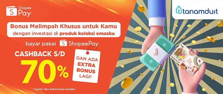 Promo Double Cashback Bareng ShopeePay 70%
